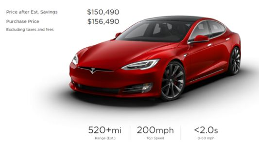 The Tesla Model S Can Now Be Configured Up To $156,490