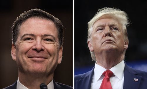 James Comey keeps a place card from his infamous 'loyalty' dinner with Trump in his office at home
