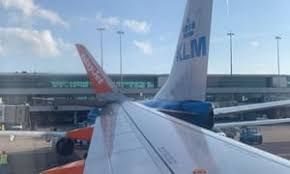 EasyJet, KLM probe into collision after their planes strike each other in Schiphol