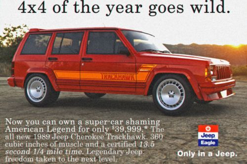 This Fake 1989 Jeep Cherokee Trackhawk Is a Blasphemous Beauty