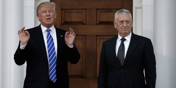 Trump joked about former President Abraham Lincoln during his rally, the same night Mattis praised Lincoln's patriotism in s speech