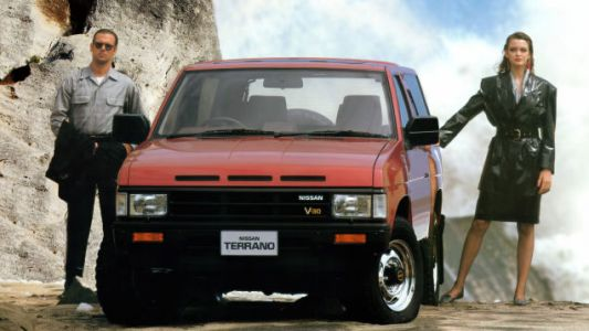 Here I am with my Adventure Wife as we get into our 1987 Nissan Terrano