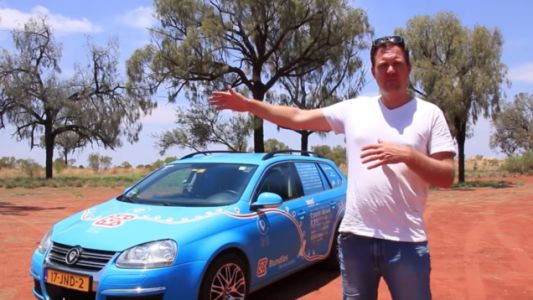 Man Concludes 'World's Longest' Trip in Electric Car