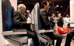 Standing seats projects the future of airline seats at Paris Air Show