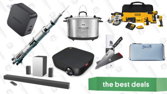 Wednesday's Best Deals: $120 Surround Sound, Kate Spade Surprise Sale, LEGO Saturn V Apollo, and More