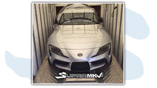 Here's the 2020 Toyota Supra Face Before You're Supposed to See It