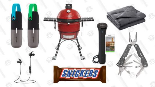 Thursday's Best Deals: Outdoor Gear, Weighted Blankets, Giant Snickers, Headphones, and More