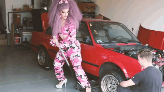 Learn How To Change A Tire From The Most Fabulous Person I've Ever Seen