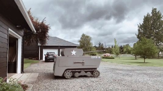 You'll Look Forward to Cutting the Lawn When You Turn Your Riding Mower Into a Tank