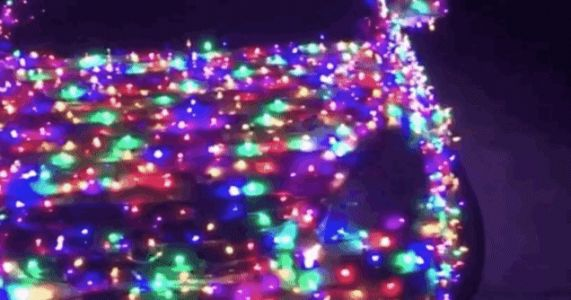 California Man Covers Car in 4,000 Christmas Lights, Puts the Rest of Us To Shame