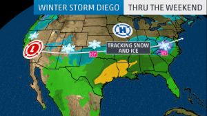 Winter Storm Diego to cause cross-country havoc and travel disruptions