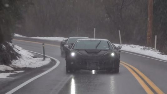 Here's New Video of the Midengine Corvette Running Around California