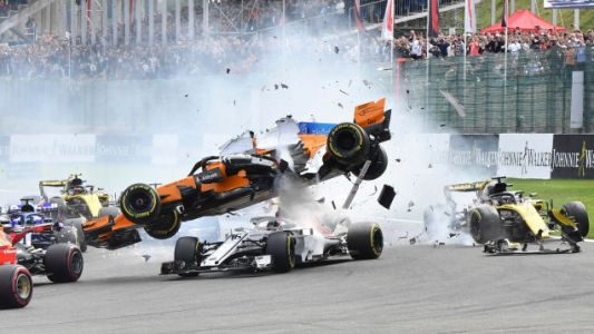The Front of an F1 Car Would've Hit Charles Leclerc in the Helmet Earlier This Year Without the Halo