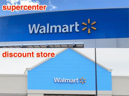 Walmart Supercenters have more than doubled the presence of the original Discount store model around the US. We compared the two and found that the supercenter has a surprisingly large grocery