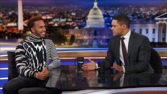 Lewis Hamilton Didn't Win His Fifth Championship This Weekend, But He Was On The Daily Show And That's Kind Of The Same Thing