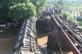 Bangladesh: 4 dead, over 100 injured as train plunges after bridge collapses