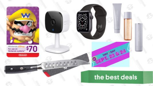 Wednesday's Best Deals: Apple Watch Series 6, Wayfair's Way Day, Nintendo eShop Gift Cards, Fenty Skin Set, Kyoku Samurai Steak Knives, and More
