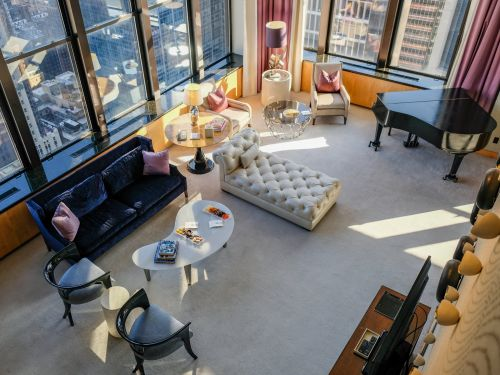 One of NYC's most iconic luxury hotels was used to film 'Gossip Girl' scenes and is home to two $25,000-a-night penthouse suites. I got a tour - here's what it looks like inside