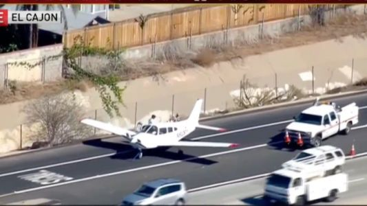 Watch This Plane Safely Make an Emergency Landing in the Middle of an Active Interstate