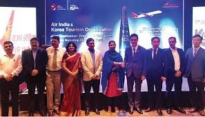 Korea Tourism Organization and Air India partnered to launch Delhi-Seoul flight