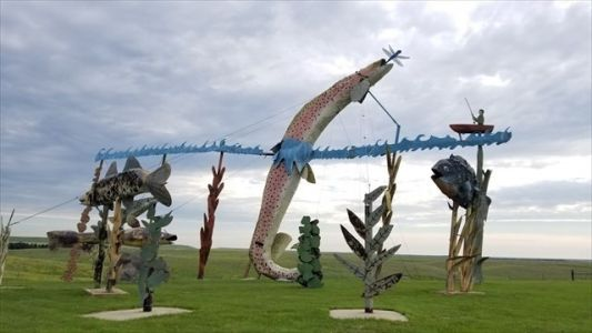 Geocachen langs de Enchanted Highway