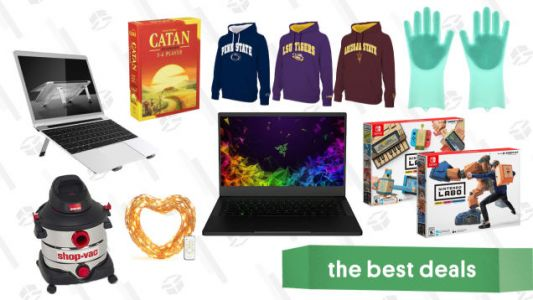 Friday's Best Deals: PlayStation Plus, Razer Laptop, Catan, Nintendo Labo, Shop-Vac, and More