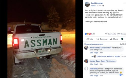 Assman Will Not Take This Sitting Down