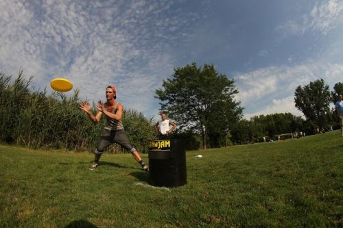 Keep the Cornhole In Your Garage and Try Kan Jam For $30