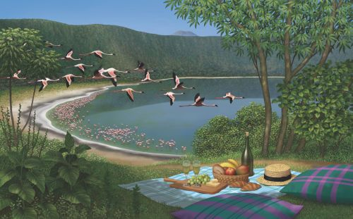 Flight of Fancy: Lunch with Flamingos