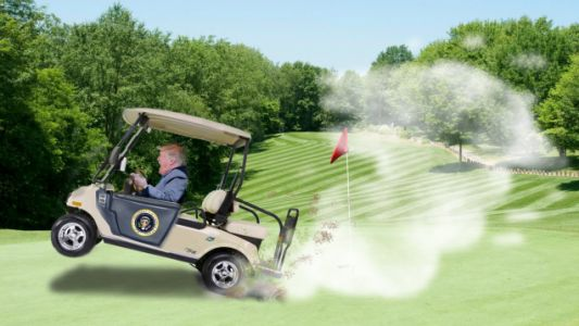 New Book Alleges Trump Had a 'Supercharged' Golf Cart to Help Him Cheat at Golf
