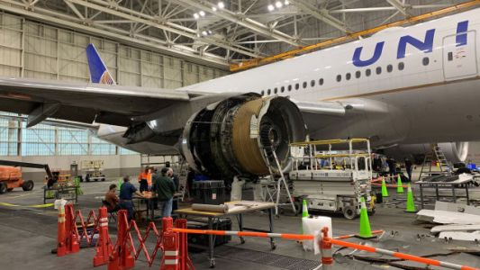 That Boeing 777 Landed Safely Despite A Hole Punched In The Fuselage By The Engine Failure