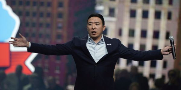 Andrew Yang is locking down way more supporters than other non-frontrunners in the 2020 Democratic race