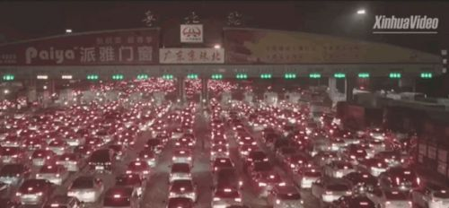 Holiday Traffic in China Boggles the Mind