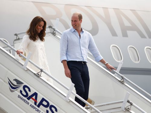 Prince William and Kate Middleton's plane was forced to abort landing due to a 'terrifying electrical storm' in Pakistan
