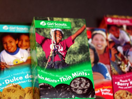 A Girl Scout sold over 300 boxes of cookies outside of a pot dispensary - and people don't know if they should praise her or be concerned