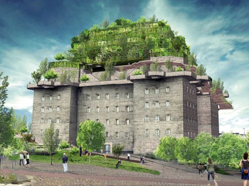 A former Nazi bunker in Germany is being turned into a luxury hotel with a 5-storey roof garden
