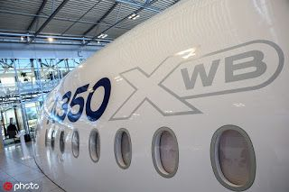 Airbus' joint venture in China becomes sole composite structure supplier of some A350 XWB parts