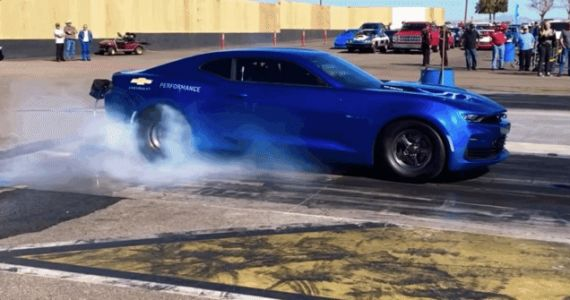 Here's Video of the Electric eCOPO Chevy Camaro Doing a Quarter-Mile at a Drag Strip
