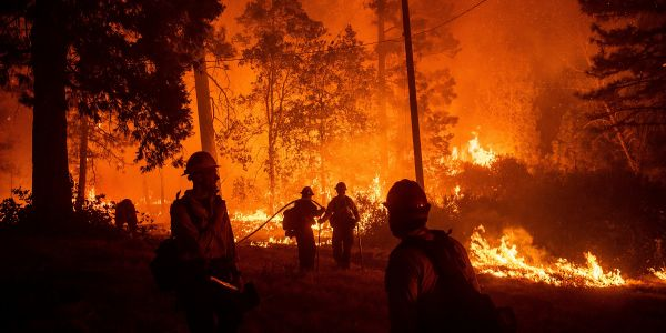 New wildfire tears through drought-stricken forest as California reels from its biggest fire in state history