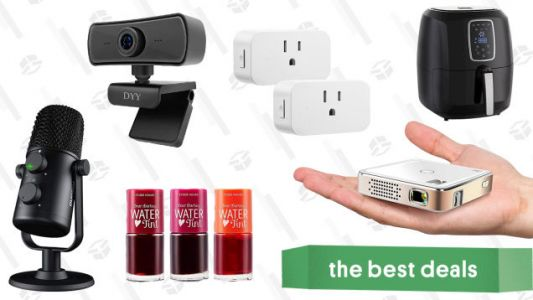 Sunday's Best Deals: Kodak Pocket Projector, 2K HD Rotating Webcam, Digital Air Fryer, Maono Cardioid Condenser Microphone, Smart Home Plugs, Etude House Tint, and More