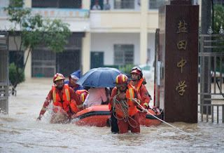 China cities declare flood 'red alerts' as extreme weather threats surge