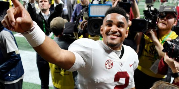 Alabama quarterback who was benched in last year's title game was thrown in the SEC Championship and scored 2 touchdowns in 10 minutes to lead a wild comeback