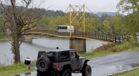 Bus Weighing Three Times theLimit of Old Wooden Bridge JustDrives Across It Anyway