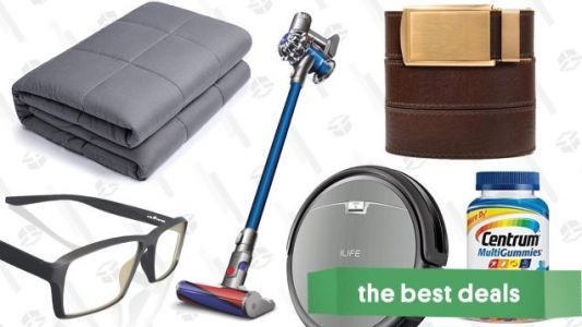 Thursday's Best Deals: Dyson Outlet, Weighted Blankets, Ratchet Belts, and More