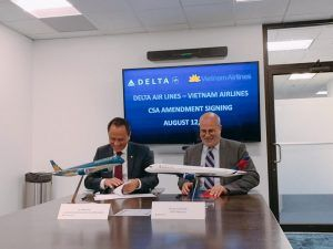 Vietnam Airlines and Delta code sharing on Tokyo-Hanoi route