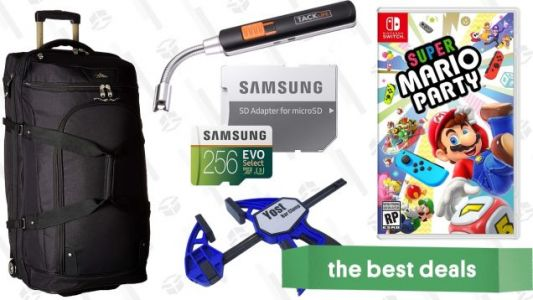 Sunday's Best Deals: MicroSD Cards, Super Mario Party, Yost Vises, and More