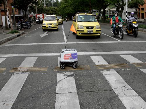 Softbank-backed delivery startup Rappi is testing out robots for contactless delivery - take a look