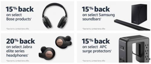 Get Up to 20% Back On Select Products With Your Amazon Prime Credit Card