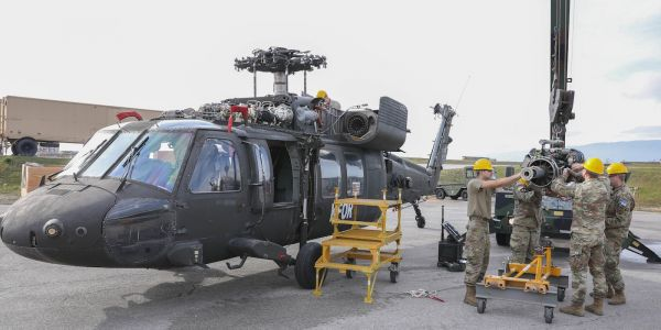 How US soldiers tear Black Hawk helicopters apart and put them back together to keep them flying