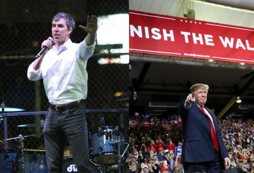Trump vs. O'Rourke: Scenes from their dueling rallies in El Paso, Texas